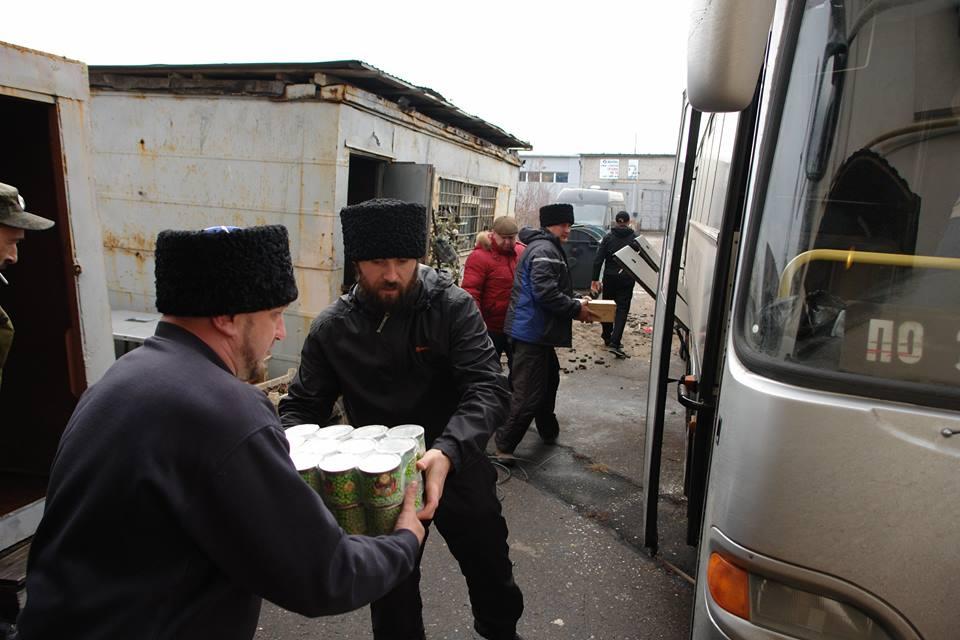 Казаки Горячевской казачьей общины доставили в ДНР более 10 тонн гуманитарного груза