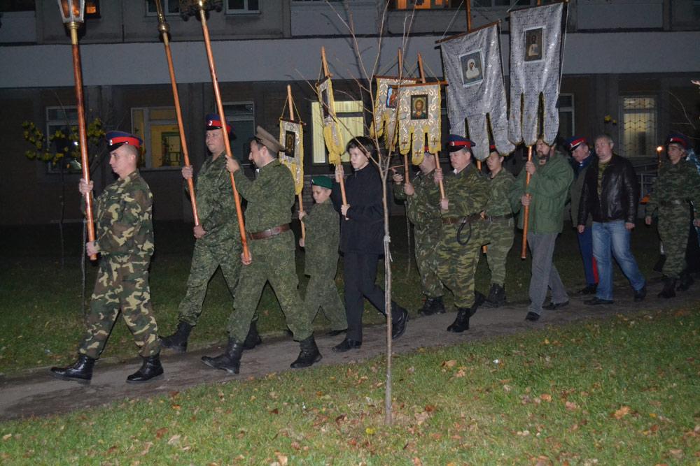 Освящение знамени 7-й генерала Бакланова полусотни СКП
