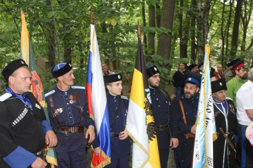 Казаки установили закладной крест герою Китайского похода русской армии