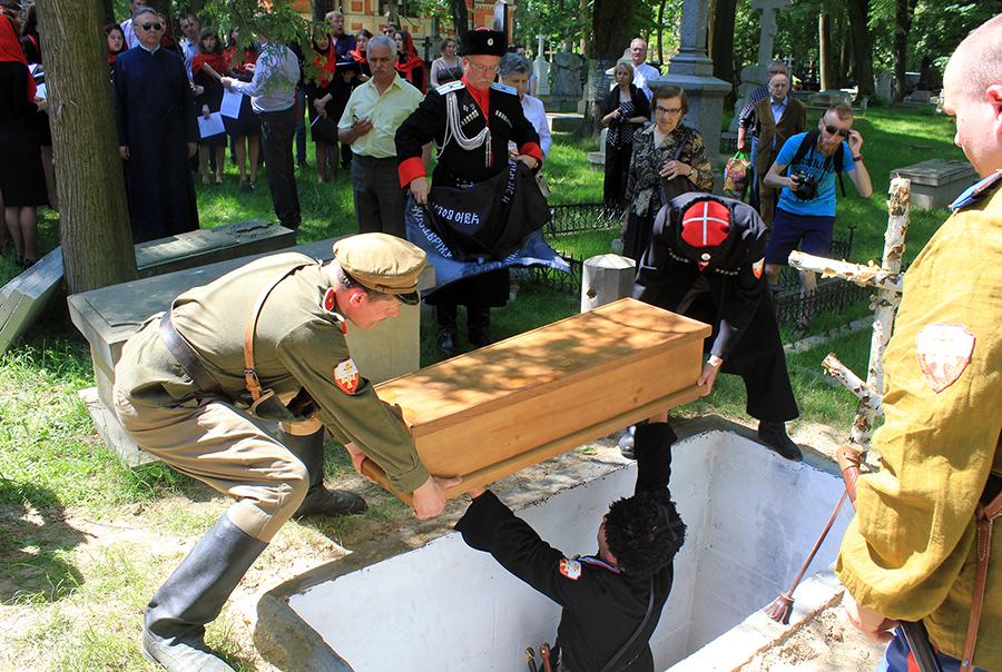 Перезахоронение останков донских казаков в Люблине