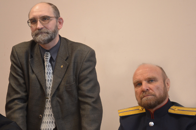 С.А. Матвеев (справа)