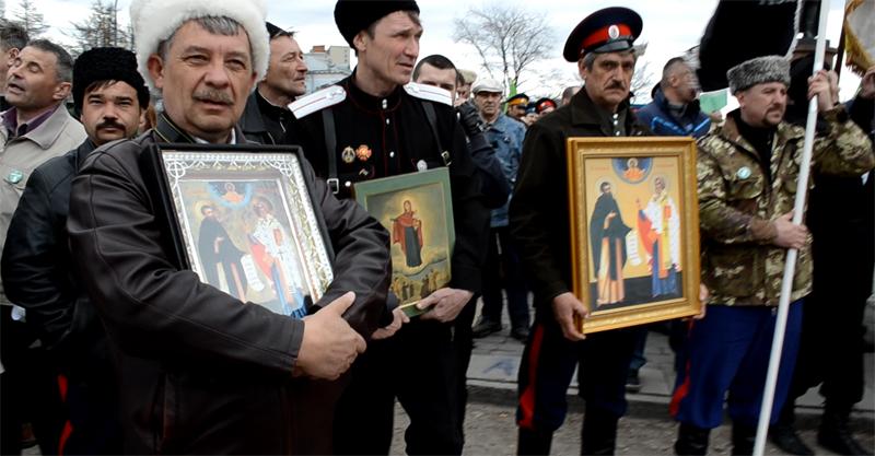 Казачий митинг в Москве в защиту Хопра